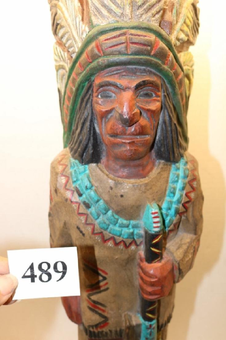 Male cigar store Indian Counter - 2