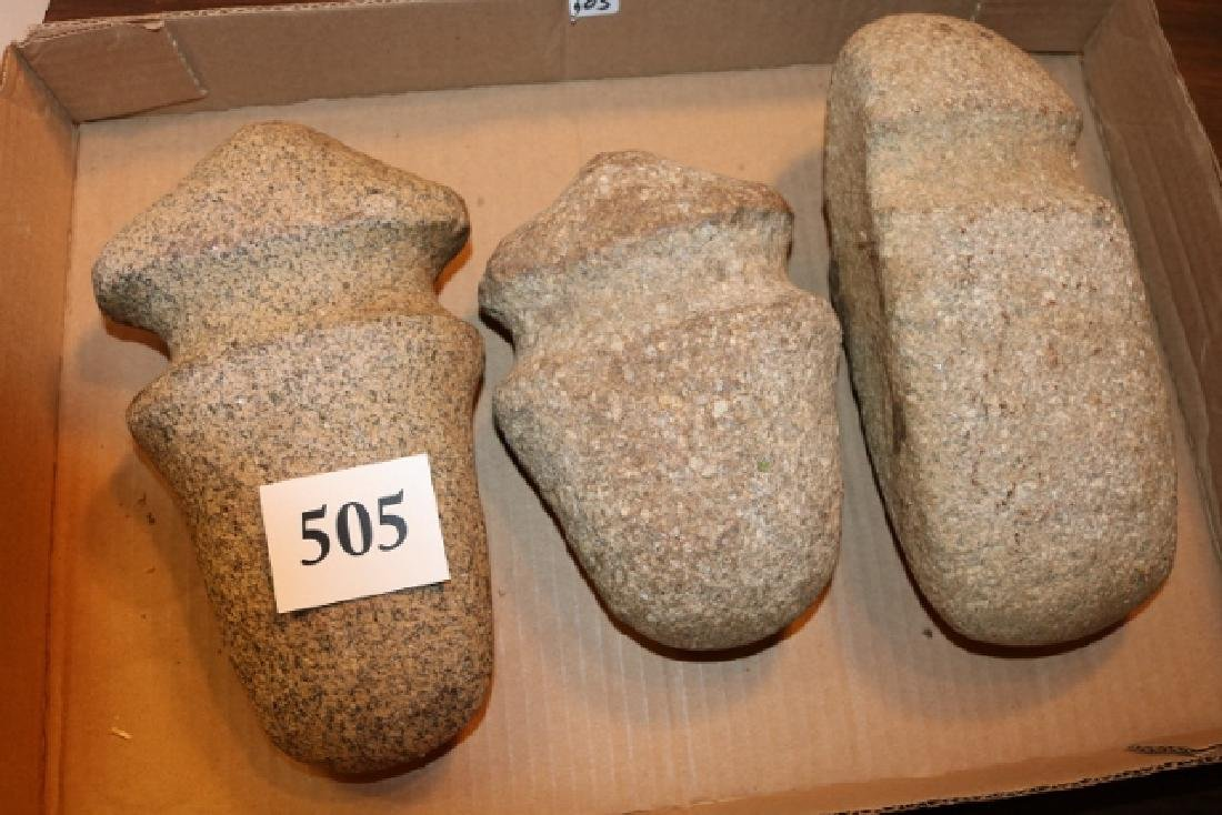 3 Large Contemporary Stone Axes