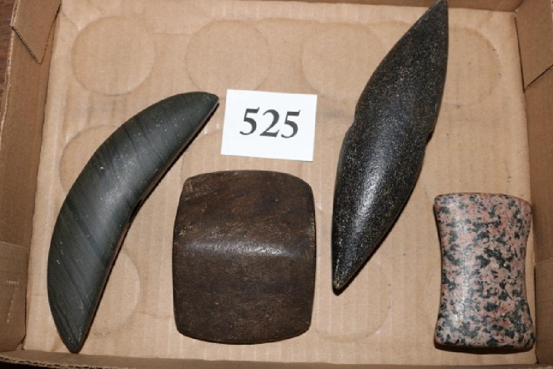 Group of 4 Contemporary Bannerstones