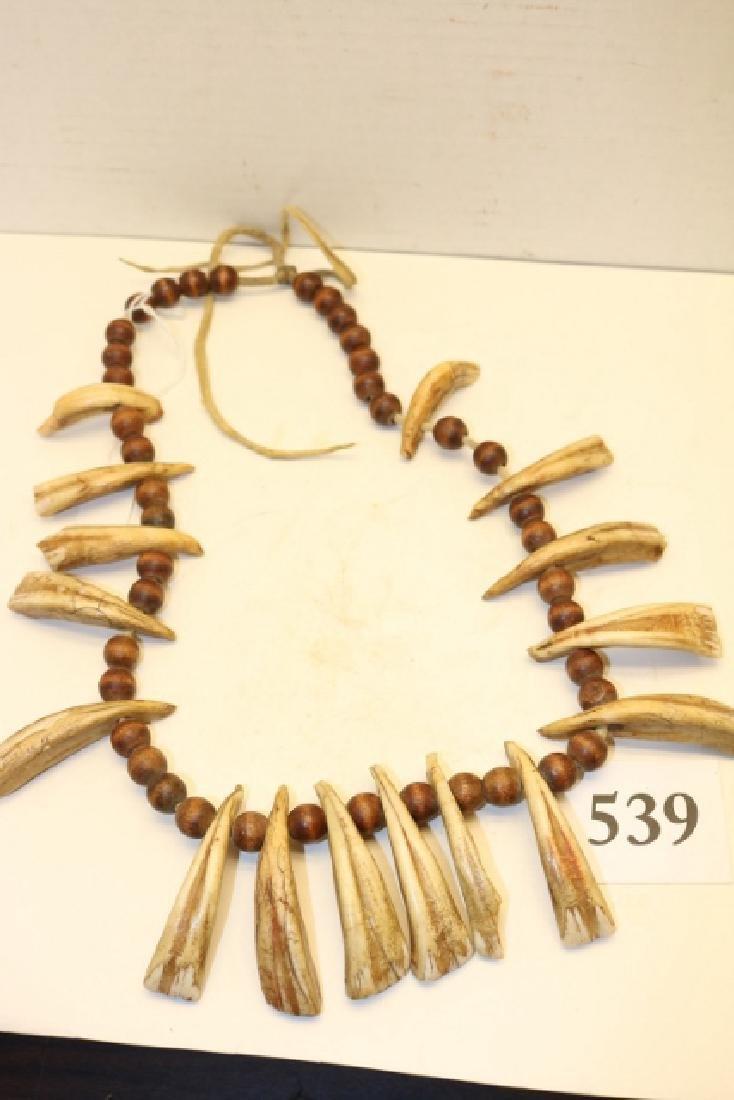 Wood Bead16 Horse Teeth Necklace