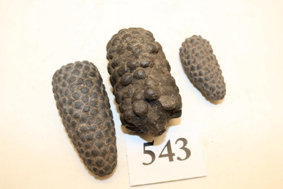 3 Prehistoric Inca Corn Effigy