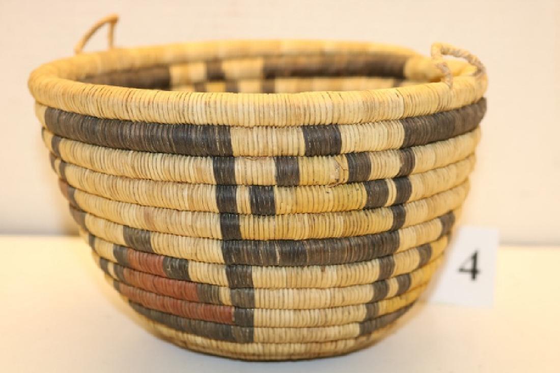 Hopi Polychrome Basket Bowl - 2
