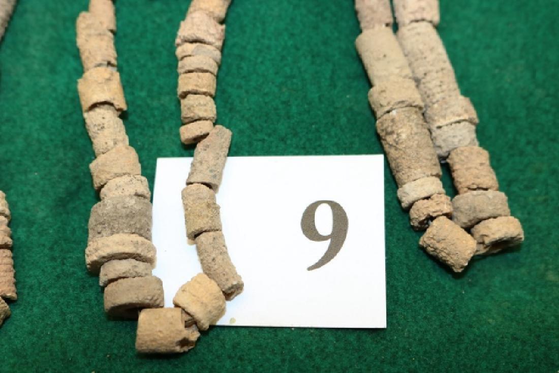 3 Crinoid Fossilized Beads - 2