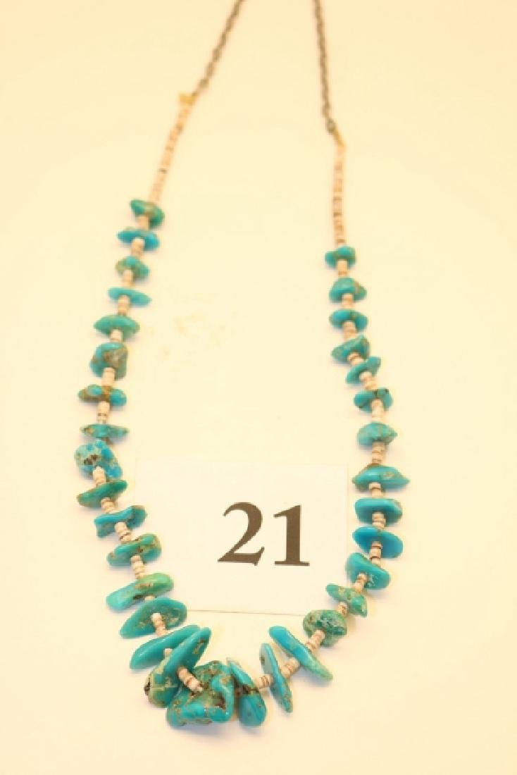 Turquoise Heishe Necklace