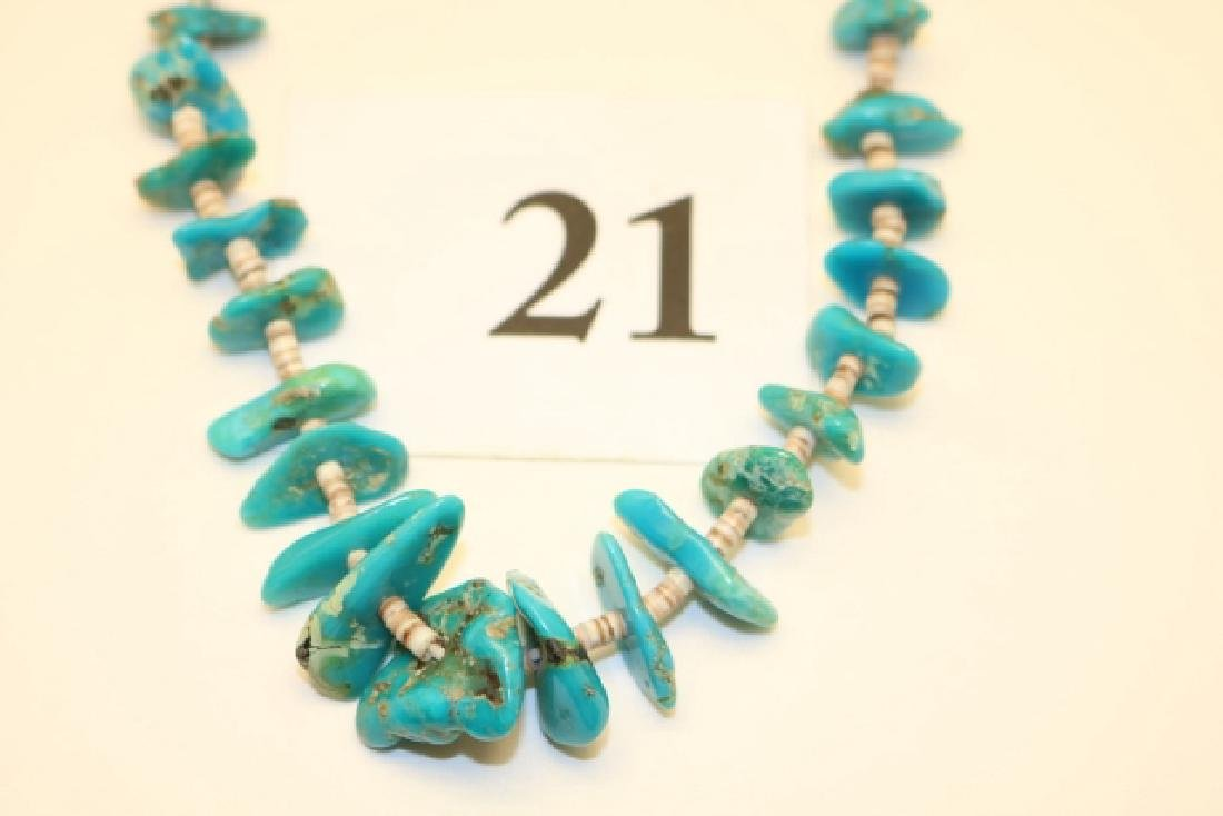 Turquoise Heishe Necklace - 2
