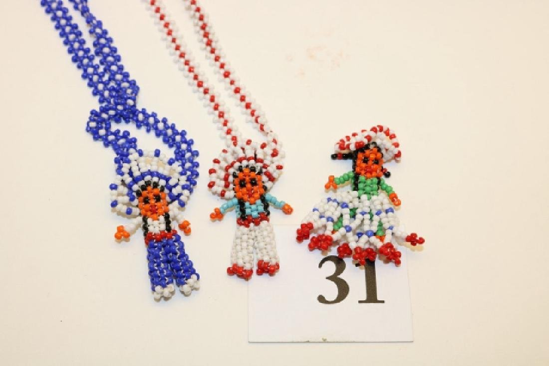 Beaded Comanche Skirt Doll and Necklace