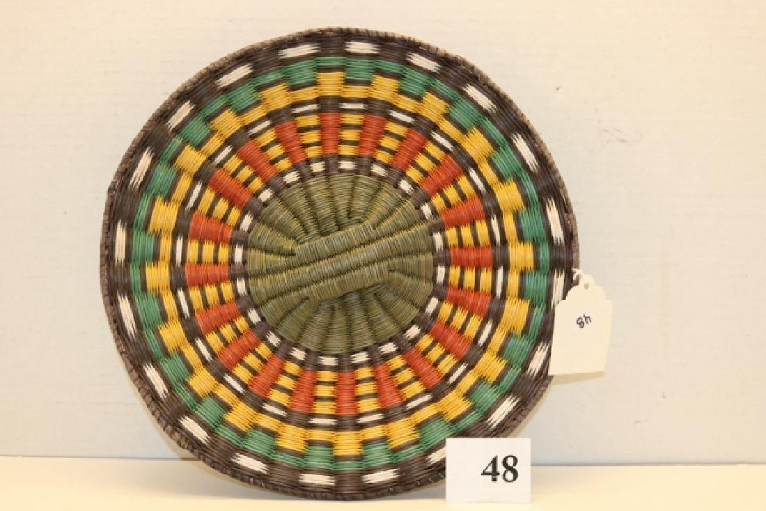 Polychrome Hopi Wicker Tray