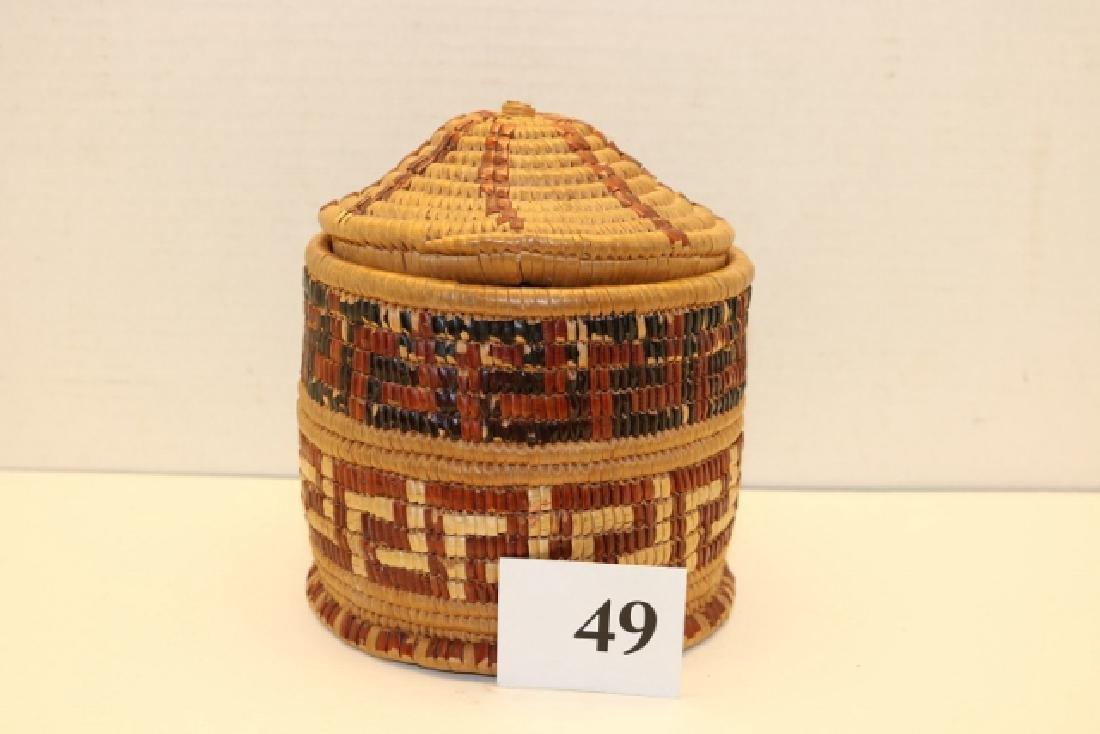 Salish Polychrome Basket