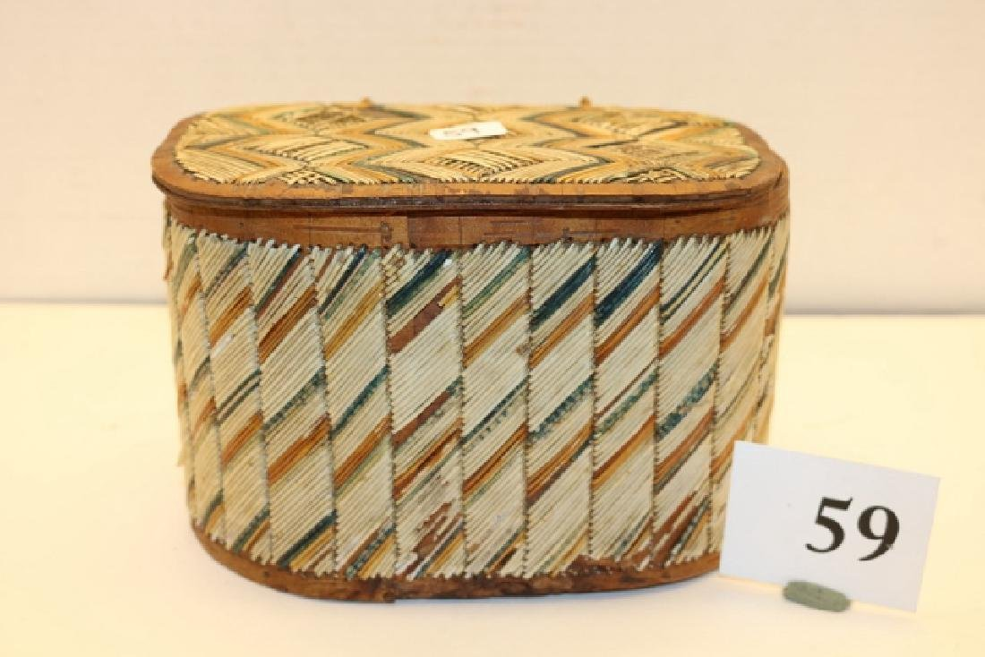 Lidded Quilled Box