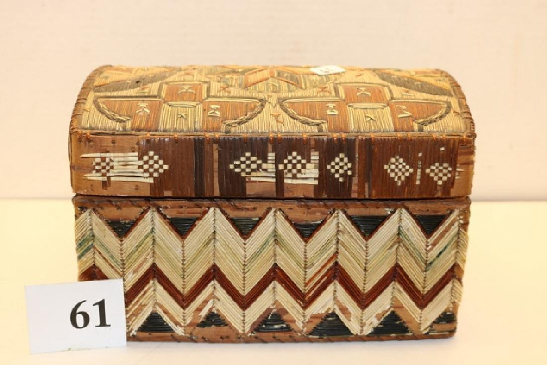 Lidded Quilled Trunk