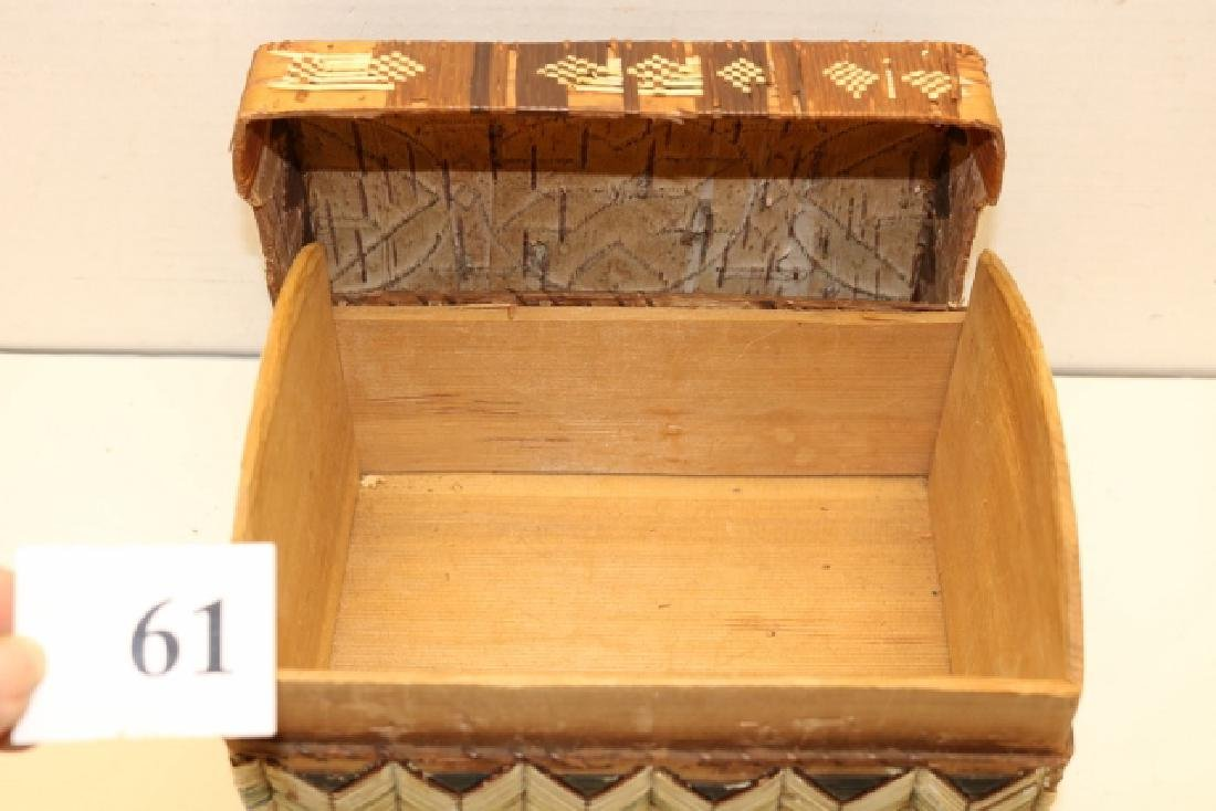 Lidded Quilled Trunk - 3