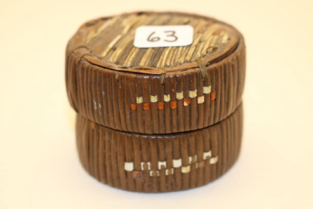 Lidded Micmac Quilled Basket Box