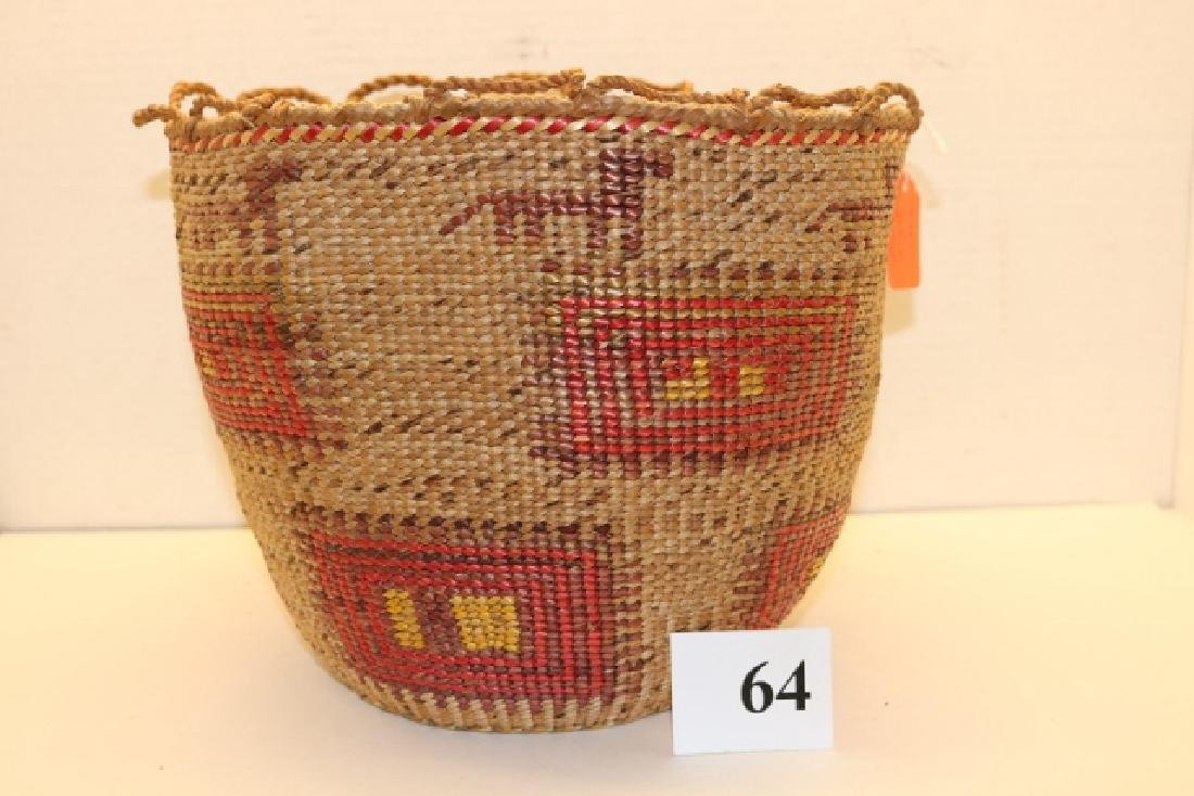 Polychrome Skokomish Basket