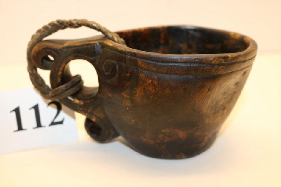 Carved Wood Canoe Cup - 2