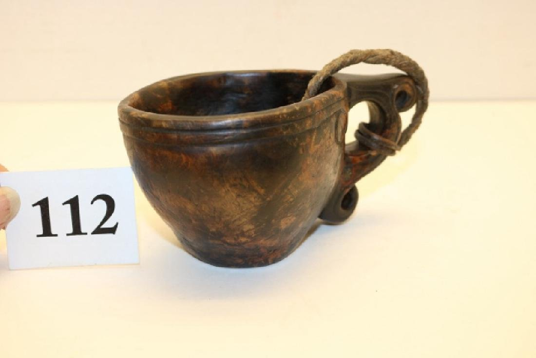 Carved Wood Canoe Cup - 3