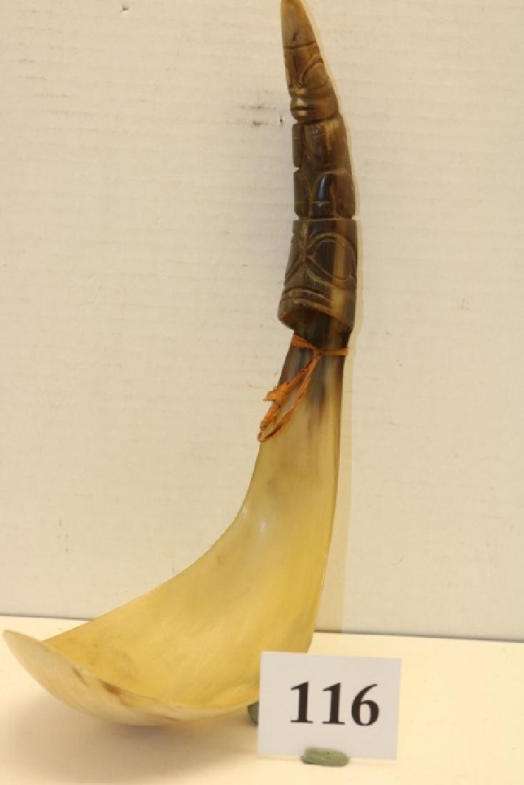 Carved North West Coast Horn Spoon