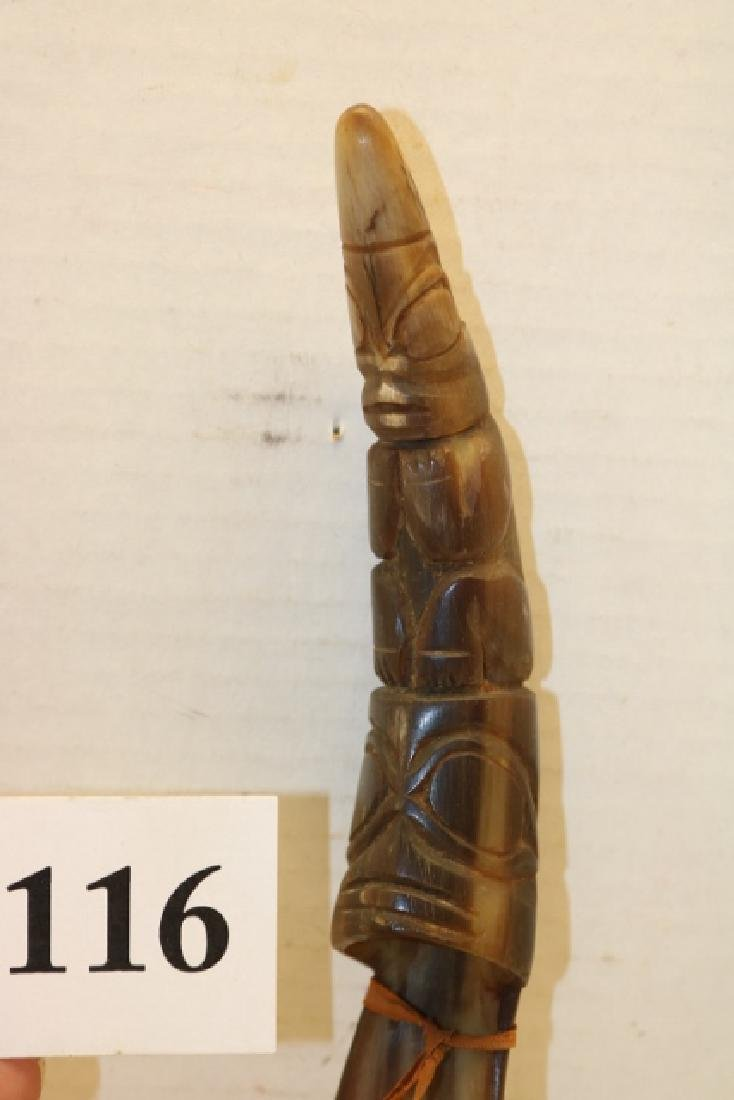 Carved North West Coast Horn Spoon - 2