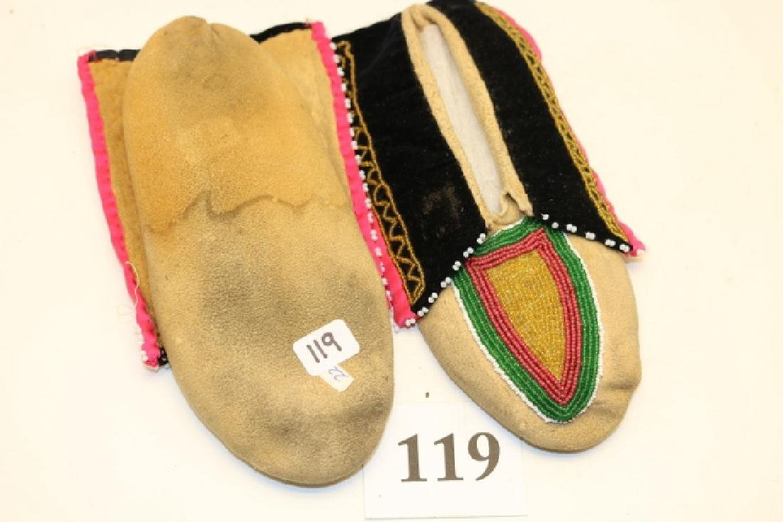 Pair Delaware Childs Moccasins - 2
