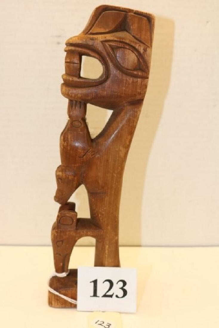 Carved Wood Heidi Totem Pole