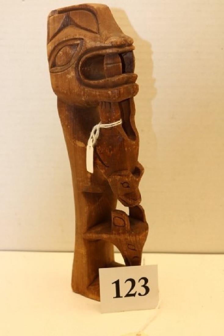 Carved Wood Heidi Totem Pole - 2