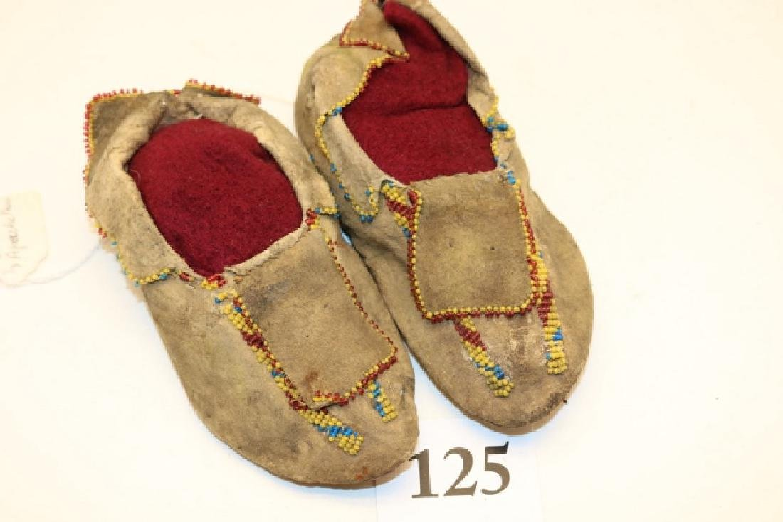 Pair Childs Apache Moccassins