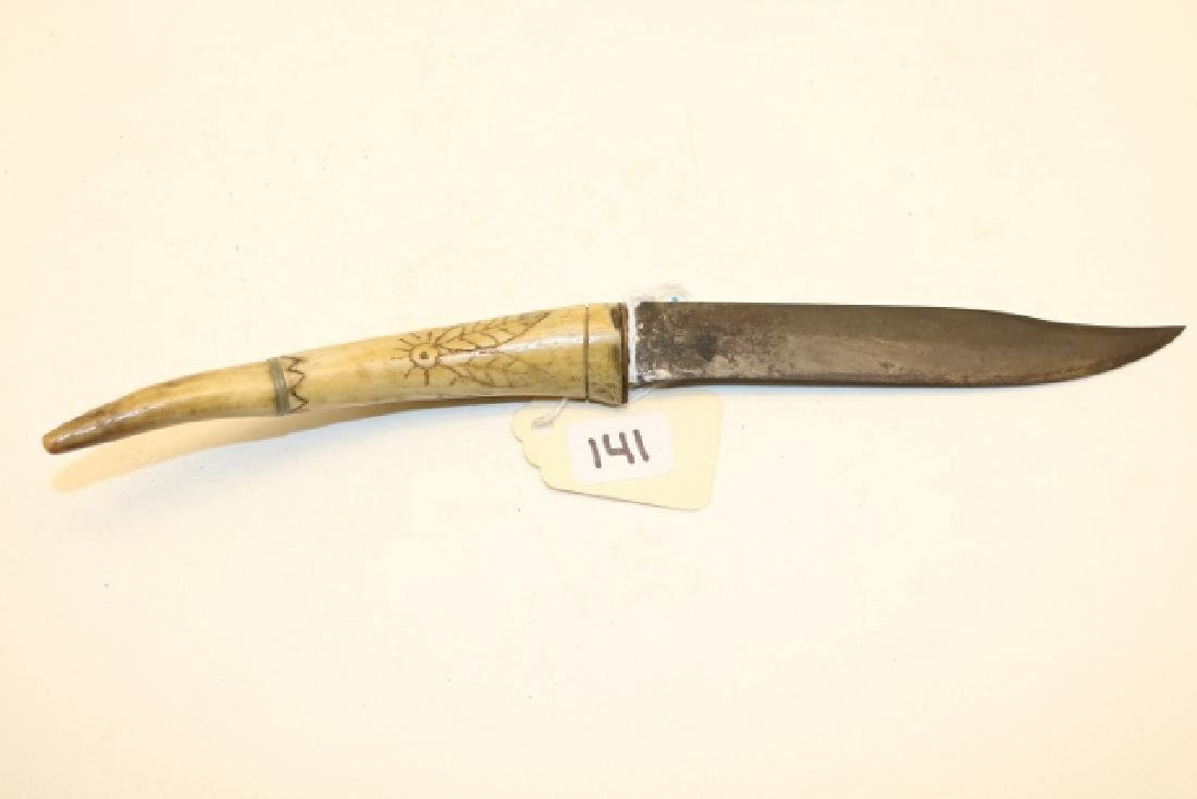 "8 1/2"" Engraved Handle Knife"