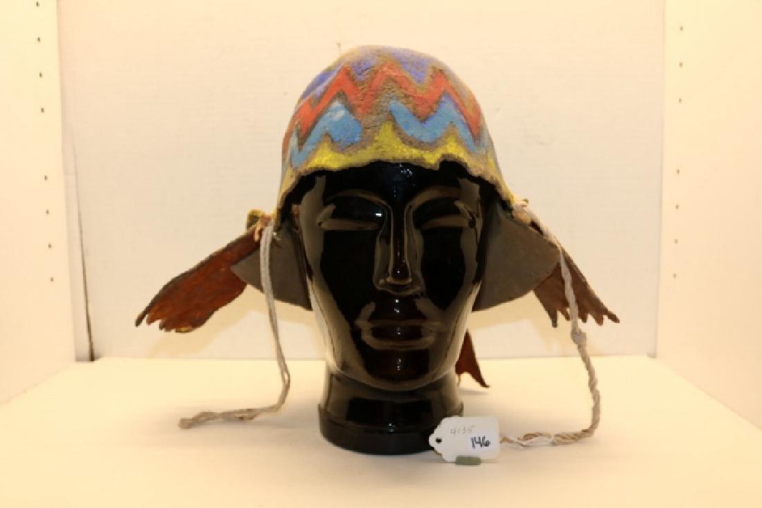 """""""Apache"""" Katsina Hopi Dance Helmet"""