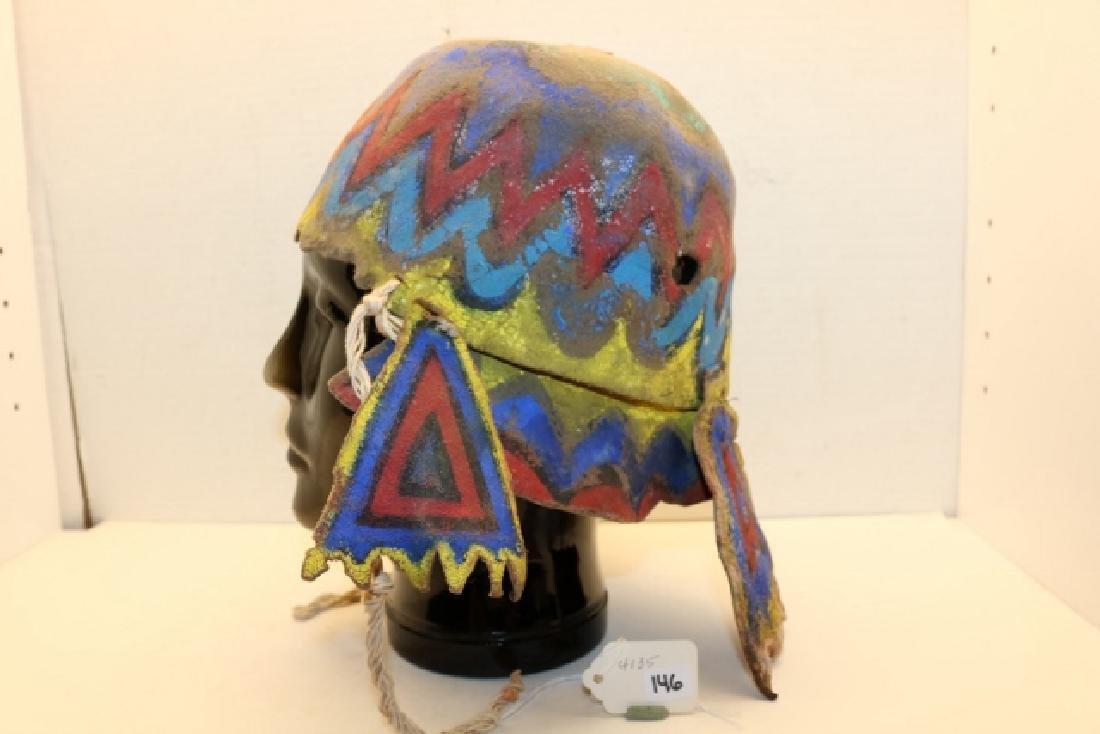 """""""Apache"""" Katsina Hopi Dance Helmet - 2"""