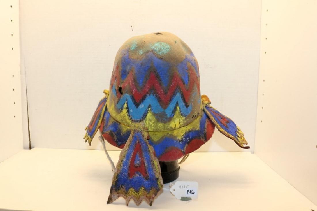 """""""Apache"""" Katsina Hopi Dance Helmet - 3"""