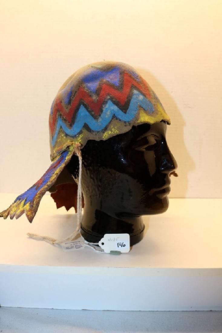 """""""Apache"""" Katsina Hopi Dance Helmet - 4"""