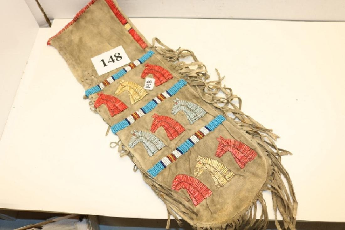 Quilled Fringed Bag