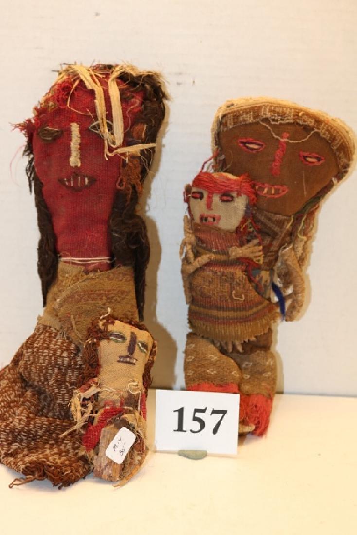 3 Peruvian Cloth Dolls