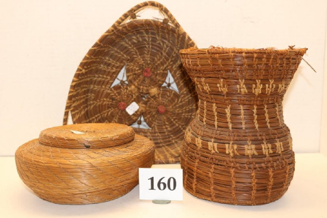 3 Pine Needle Baskets
