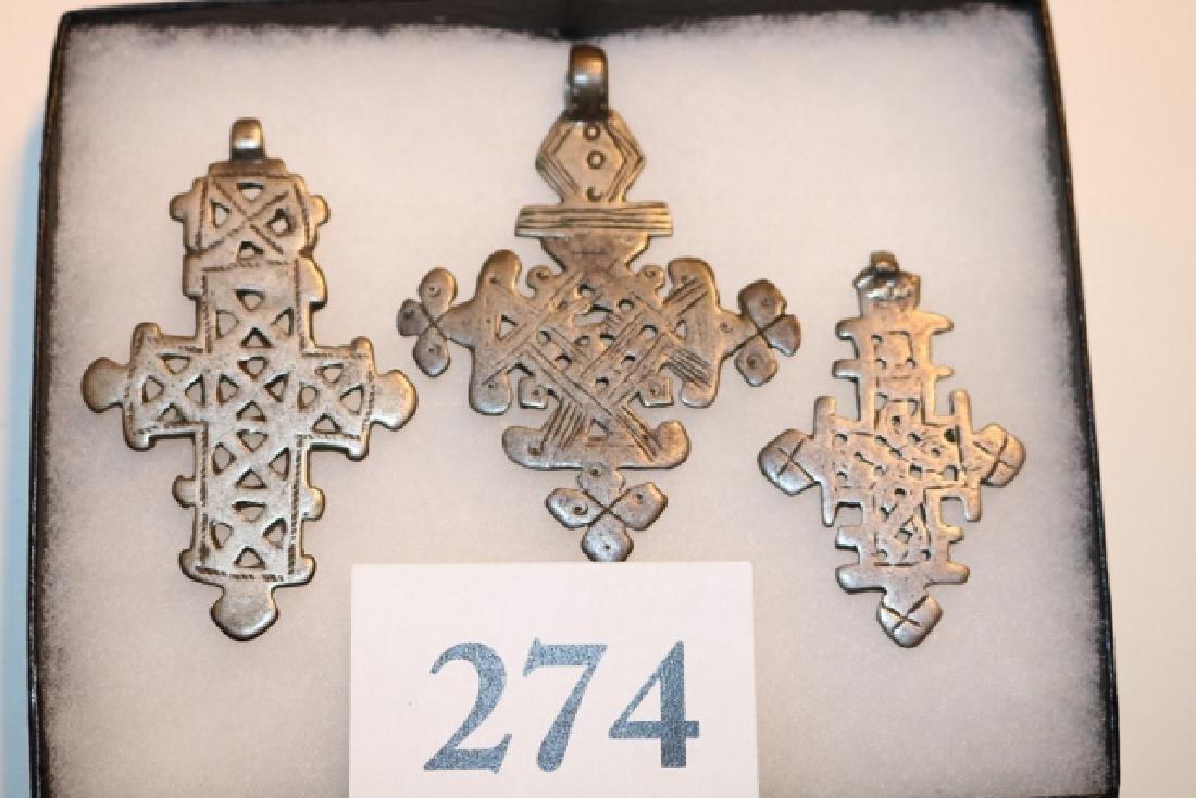 3 Ethiopian Cuptic Crosses