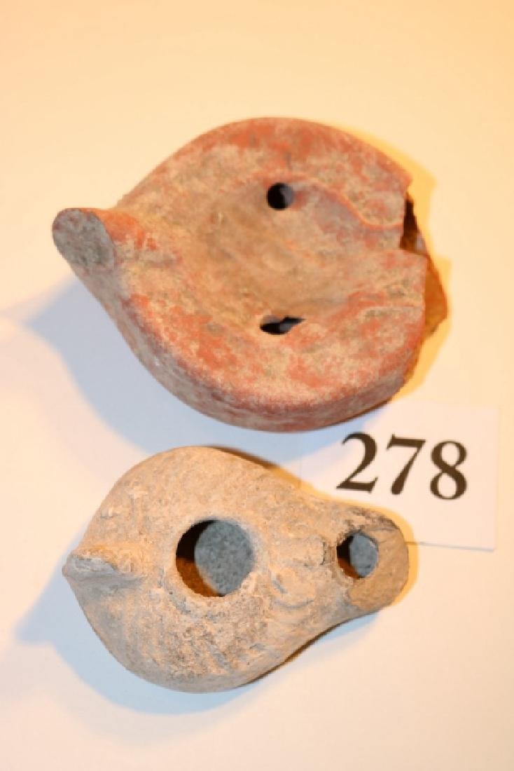 2 Holy Land Oil Lamps
