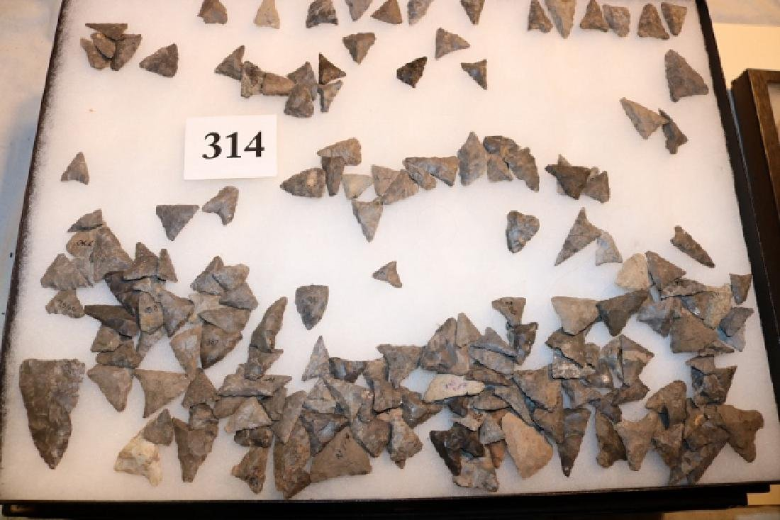 Frame with 178 Triangular Flint Points