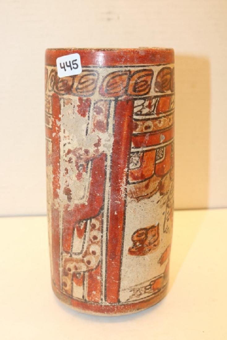 Polychrome Mayan Cylinder Jar