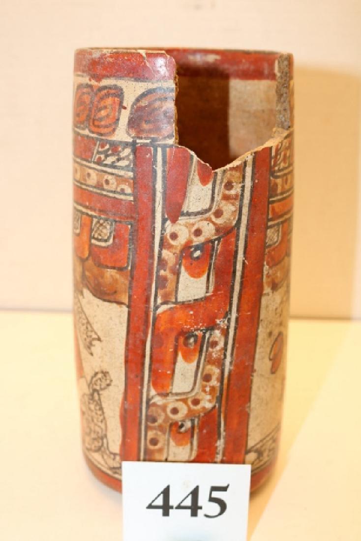 Polychrome Mayan Cylinder Jar - 2