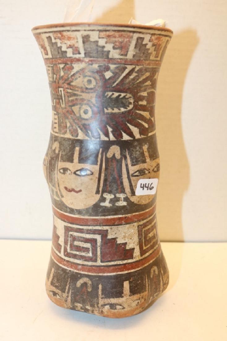 Polychrome Painted Cylinder Jar