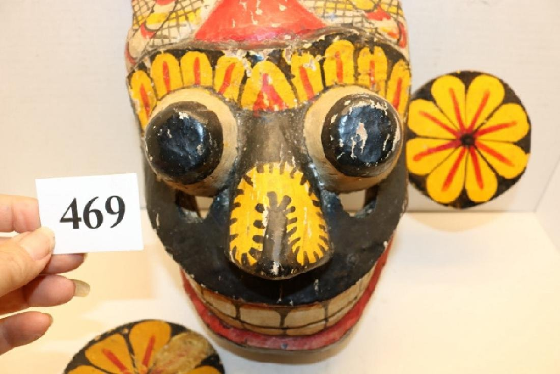 Polychrome Painted Dance Mask - 2