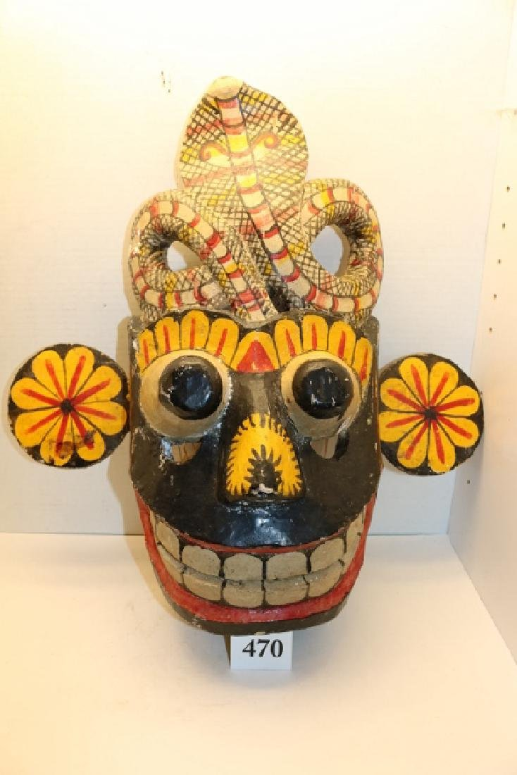 Polychrome Painted Dance Mask - 3