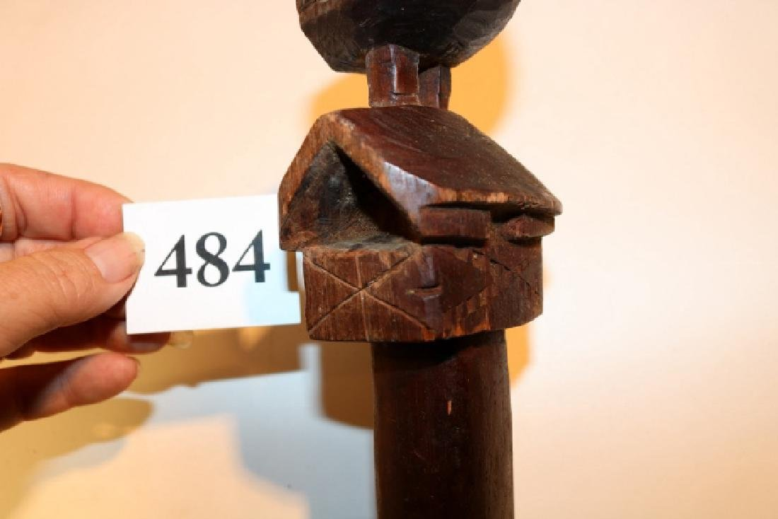Carved Bird – Council House Walking Stick - 4