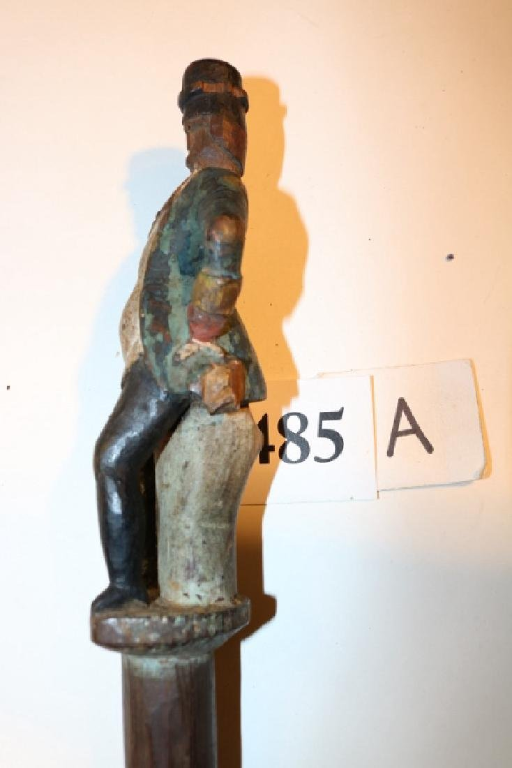 Folk Art Man Figure Walking Cane - 4
