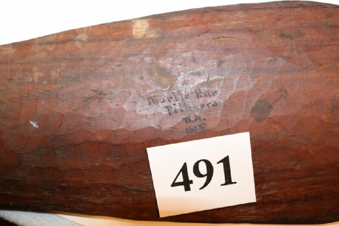 """27 ½"""" Carved Wood Mace - 3"""