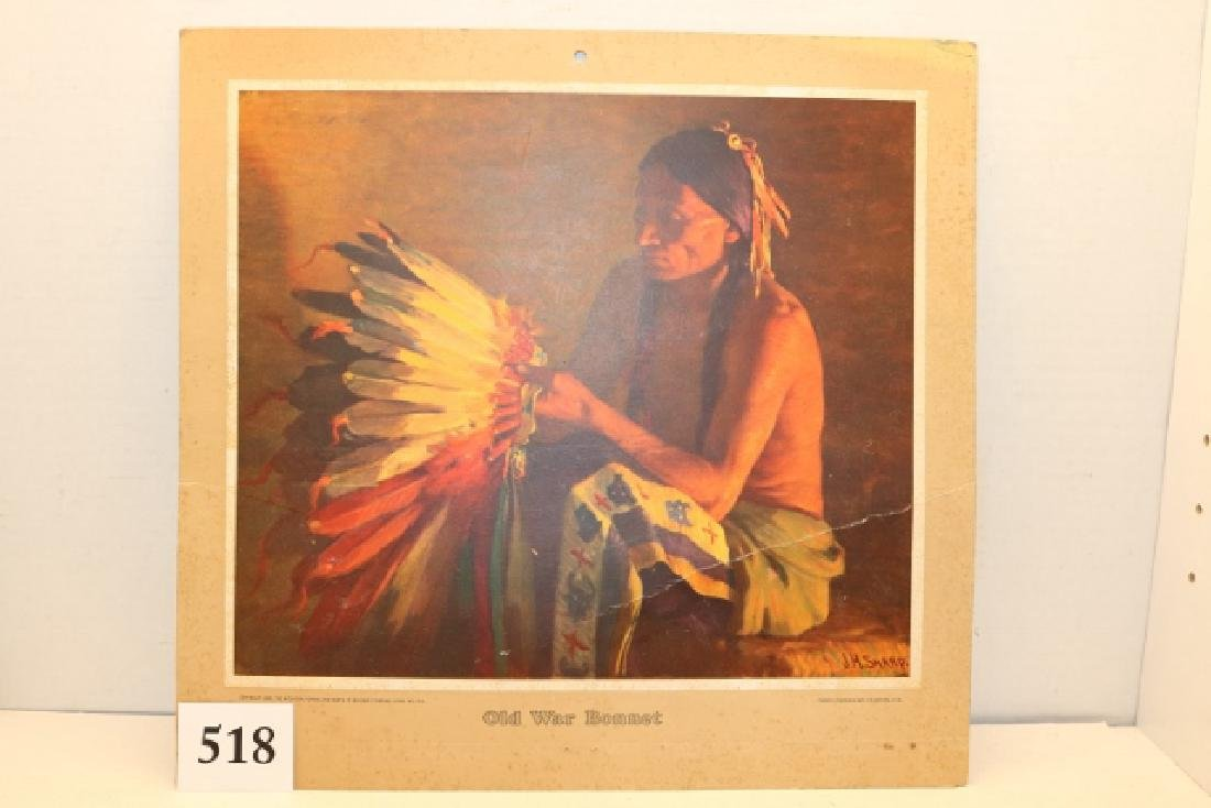 Calendar Print of Couse's Old War Bonnet