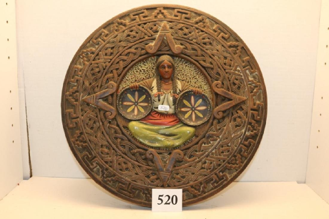 Cast Mexican Wall Plaque