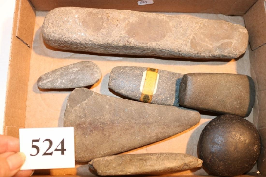 7 Stone Tools, Celts, Hammerstone