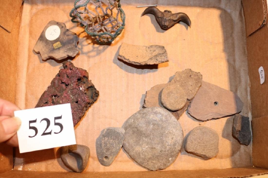 Pot Shards, Pendant, Stone Disc.