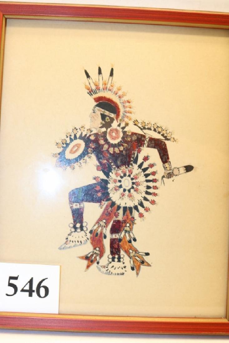 Framed Kiowa Dancer Water Color