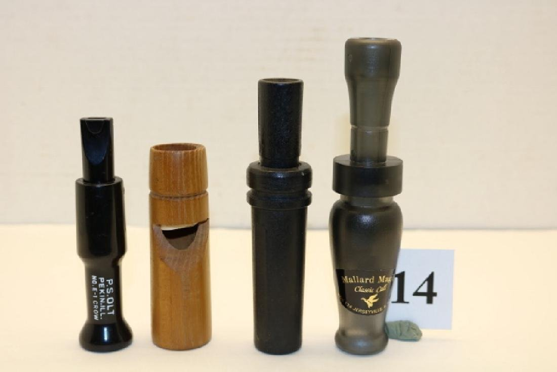 Lot of 4 Duck/Crow Calls